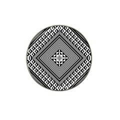 Geometric Pattern Vector Illustration Myxk9m   Hat Clip Ball Marker (10 Pack) by dsgbrand
