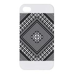 Geometric Pattern Vector Illustration Myxk9m   Apple Iphone 4/4s Premium Hardshell Case by dsgbrand