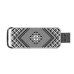 Geometric Pattern Vector Illustration Myxk9m   Portable Usb Flash (one Side) by dsgbrand