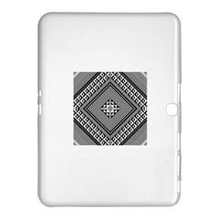 Geometric Pattern Vector Illustration Myxk9m   Samsung Galaxy Tab 4 (10 1 ) Hardshell Case  by dsgbrand