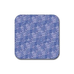 Modern Abstract Geometric Rubber Coaster (square)  by dflcprints