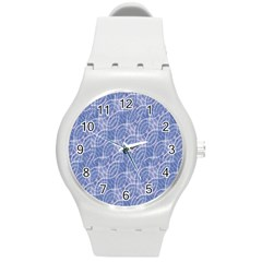 Modern Abstract Geometric Round Plastic Sport Watch (m) by dflcprints