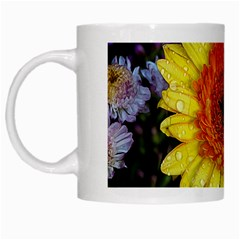 Yellow Flower Close up White Mugs by MichaelMoriartyPhotography