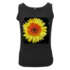 Yellow Flower Close up Women s Black Tank Top by MichaelMoriartyPhotography