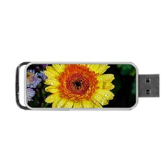 Yellow Flower Close up Portable USB Flash (Two Sides) by MichaelMoriartyPhotography