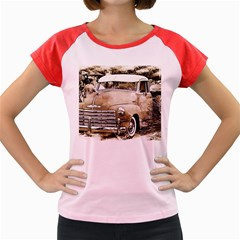 Vintage Chevrolet Pick Up Truck Women s Cap Sleeve T Shirt by MichaelMoriartyPhotography