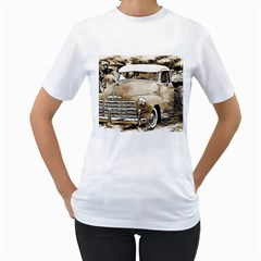 Vintage Chevrolet Pick Up Truck Women s T Shirt (white) (two Sided) by MichaelMoriartyPhotography