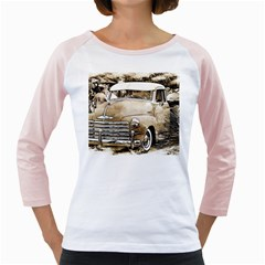 Vintage Chevrolet Pick Up Truck Girly Raglans by MichaelMoriartyPhotography