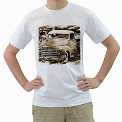 Vintage Chevrolet Pick Up Truck Men s T Shirt (white) (two Sided) by MichaelMoriartyPhotography