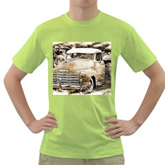 Vintage Chevrolet Pick Up Truck Green T Shirt by MichaelMoriartyPhotography