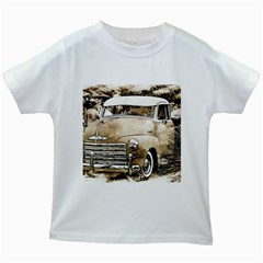 Vintage Chevrolet Pick Up Truck Kids White T Shirts by MichaelMoriartyPhotography