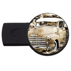 Vintage Chevrolet Pick Up Truck Usb Flash Drive Round (2 Gb)  by MichaelMoriartyPhotography
