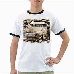 Vintage Chevrolet Pick Up Truck Ringer T Shirts by MichaelMoriartyPhotography
