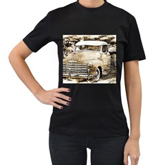 Vintage Chevrolet Pick Up Truck Women s T Shirt (black) (two Sided) by MichaelMoriartyPhotography
