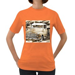 Vintage Chevrolet Pick Up Truck Women s Dark T Shirt by MichaelMoriartyPhotography