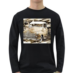 Vintage Chevrolet Pick Up Truck Long Sleeve Dark T Shirts by MichaelMoriartyPhotography