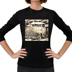 Vintage Chevrolet Pick Up Truck Women s Long Sleeve Dark T Shirts by MichaelMoriartyPhotography