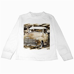 Vintage Chevrolet Pick Up Truck Kids Long Sleeve T Shirts by MichaelMoriartyPhotography