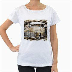 Vintage Chevrolet Pick Up Truck Women s Loose Fit T Shirt (white) by MichaelMoriartyPhotography