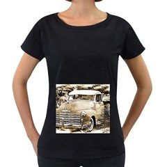 Vintage Chevrolet Pick Up Truck Women s Loose Fit T Shirt (black) by MichaelMoriartyPhotography