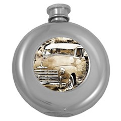 Vintage Chevrolet Pick Up Truck Round Hip Flask (5 Oz) by MichaelMoriartyPhotography