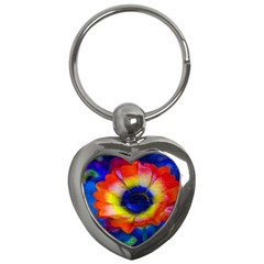 Tie Dye Flower Key Chains (heart)  by MichaelMoriartyPhotography