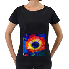 Tie Dye Flower Women s Loose-Fit T-Shirt (Black) by MichaelMoriartyPhotography