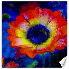 Tie Dye Flower Canvas 16  X 16   by MichaelMoriartyPhotography