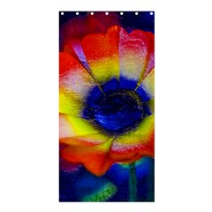 Tie Dye Flower Shower Curtain 36  x 72  (Stall)  by MichaelMoriartyPhotography