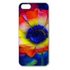 Tie Dye Flower Apple Seamless iPhone 5 Case (Clear) by MichaelMoriartyPhotography