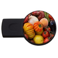 Heirloom Tomatoes Usb Flash Drive Round (2 Gb)  by MichaelMoriartyPhotography