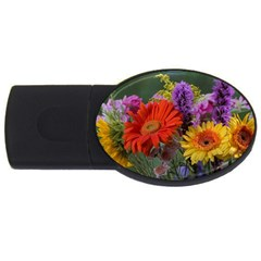 Colorful Flowers Usb Flash Drive Oval (2 Gb)  by MichaelMoriartyPhotography