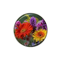 Colorful Flowers Hat Clip Ball Marker by MichaelMoriartyPhotography