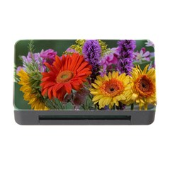 Colorful Flowers Memory Card Reader with CF by MichaelMoriartyPhotography