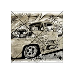 Old Ford Pick Up Truck  Acrylic Tangram Puzzle (4  x 4 ) by MichaelMoriartyPhotography