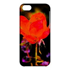 Red Beauty Apple Iphone 5c Hardshell Case by MichaelMoriartyPhotography