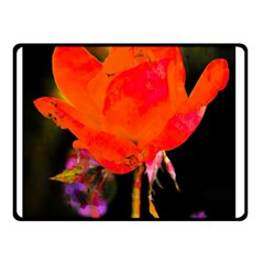 Red Beauty Double Sided Fleece Blanket (small)  by MichaelMoriartyPhotography