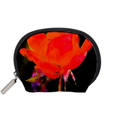 Red Beauty Accessory Pouches (small)  by MichaelMoriartyPhotography