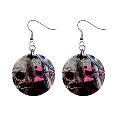 Skull And Bike Mini Button Earrings by MichaelMoriartyPhotography