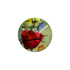 Rusty Globe Mallow Flower Golf Ball Marker by MichaelMoriartyPhotography