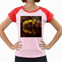 Cactus Flowers With Reflection Pool Women s Cap Sleeve T Shirt by MichaelMoriartyPhotography