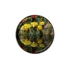 Cactus Flowers With Reflection Pool Hat Clip Ball Marker by MichaelMoriartyPhotography
