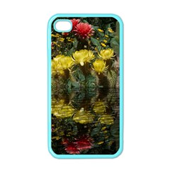 Cactus Flowers With Reflection Pool Apple Iphone 4 Case (color) by MichaelMoriartyPhotography