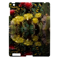 Cactus Flowers With Reflection Pool Apple Ipad 3/4 Hardshell Case by MichaelMoriartyPhotography
