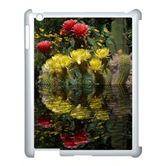Cactus Flowers With Reflection Pool Apple Ipad 3/4 Case (white) by MichaelMoriartyPhotography