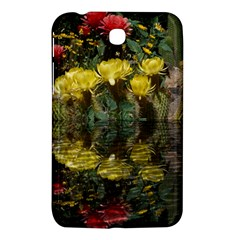 Cactus Flowers With Reflection Pool Samsung Galaxy Tab 3 (7 ) P3200 Hardshell Case  by MichaelMoriartyPhotography