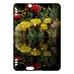 Cactus Flowers with Reflection Pool Kindle Fire HDX Hardshell Case by MichaelMoriartyPhotography