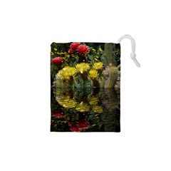 Cactus Flowers With Reflection Pool Drawstring Pouches (xs)