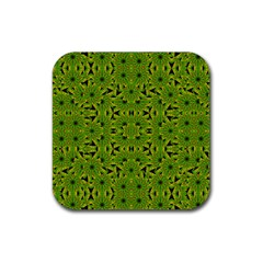 Geometric African Print Rubber Coaster (square)  by dflcprints