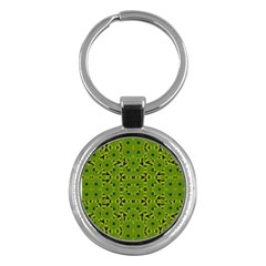 Geometric African Print Key Chains (round)  by dflcprints